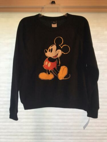 Juniors/' Women/'s Disney Mickey Mouse Graphic Sweatshirt XL Black