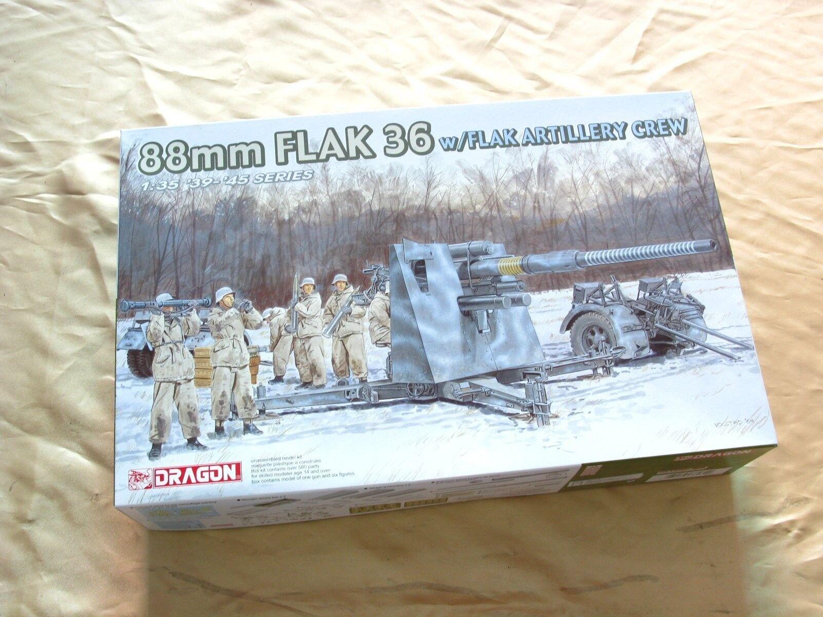 Dragon 6260 1 35 German 88mm Flak 36 w Artillery Crew