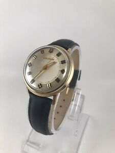 1960-039-s-Bulova-Accutron-214-Movement-Parts-or-Repair-Gold-Filled-Case-and-Back