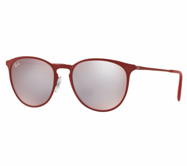 bfd5131d8b Ray-Ban Erika Metal Men s Sunglasses with Pink Silver Mirror Lenses and  Bordeaux Frame for sale online