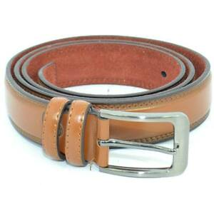 Cintura uomo cuoio in pelle abrasivata e spazzolata regolabile fibbia in acciaio