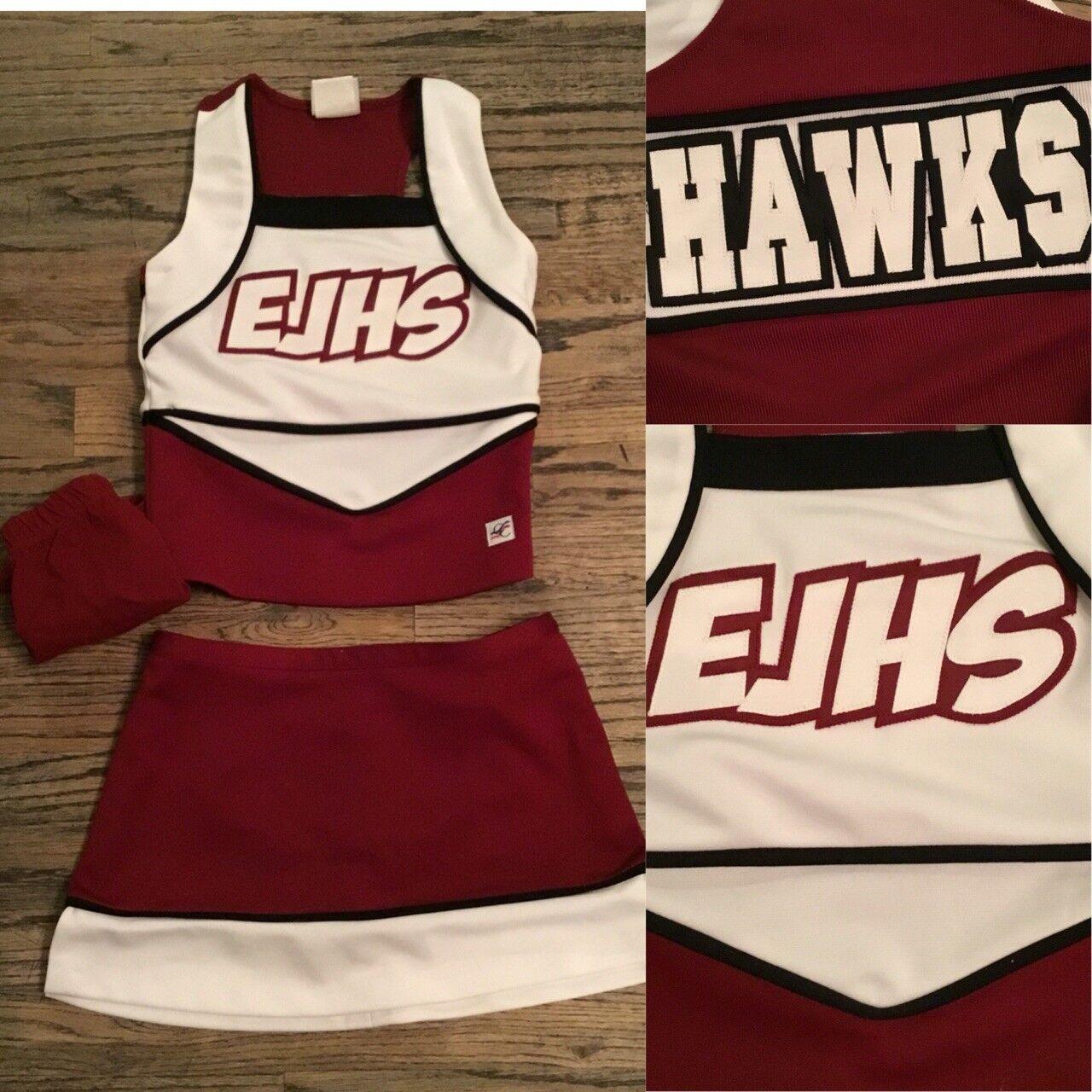 3pc Real Cheerleading Uniform HS  Sz2  for sale online