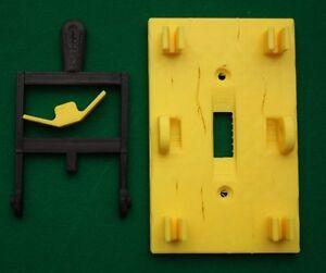 Frankenstein-Light-Switch-Cover-Plate-Flip-Handle-Decor-Single-Yellow