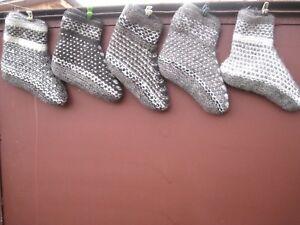 Women/'s boot SOCKS homemade 100/% NATURAL SHEEP WOOL FLEECE Russian craft angora