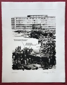 Christiane Dell Bruges & Ralph de Moll, Koolhaas, heliogravüre, 1997, firmato