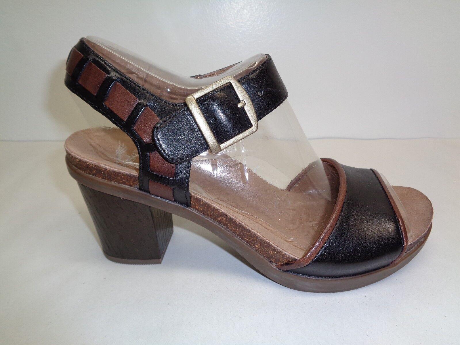 Dansko Dansko Dansko Dimensione 7.5 to 8 DEBBY FULL GRAIN nero Leather Sandals New donna scarpe 31fd3b