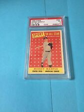 1958 Topps Baseball Mickey Mantle All-star #487 PSA  New label 3 VG