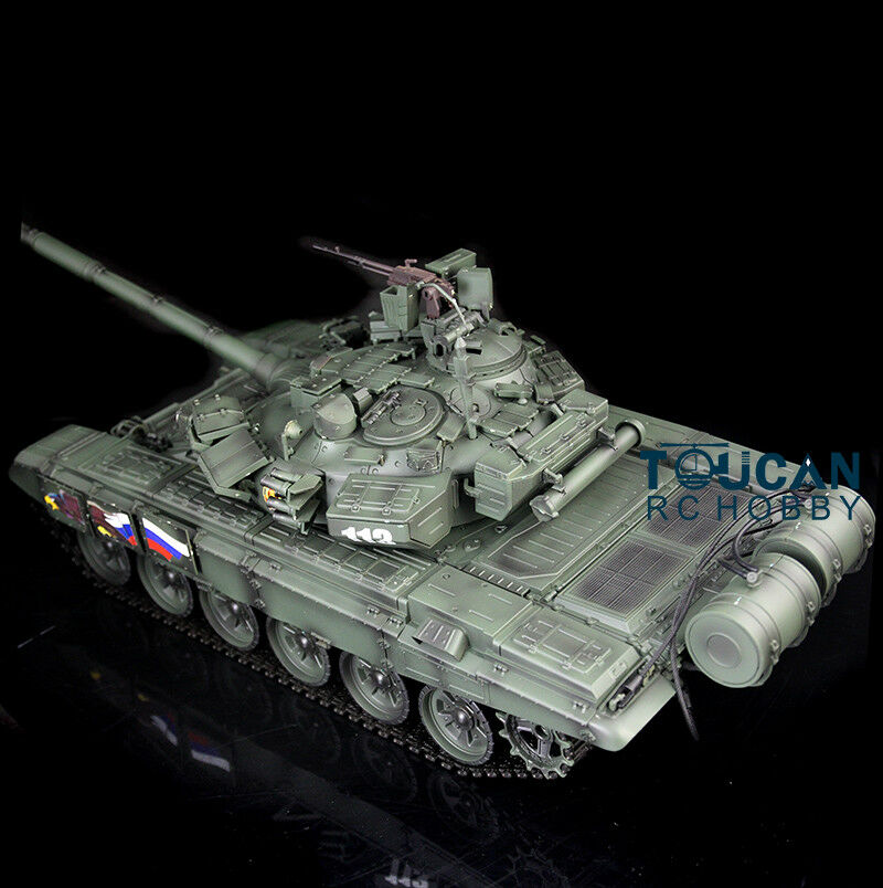 HengLong 1 16 Russian T90 RC Tank RTR 360degree Metal road whee 3938 Night color