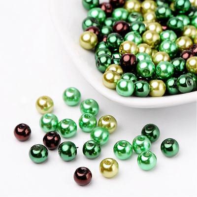 BULK 200 Mottled Glass Beads 4mm Turquoise and Black 1 Strand BD063