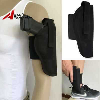 Right Hand Tactical Concealed Arms Ankle Leg Holster for Compact Pistols Handgun