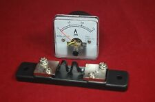 1pc Dc 0 30a Analog Ammeter Panel Amp Current Meter 5050mm With Shunt