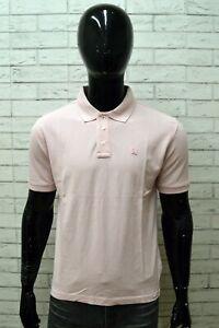 Polo-Uomo-FILA-Taglia-M-Maglia-Shirt-Manica-Corta-Cotone-Maglietta-Rosa-Man