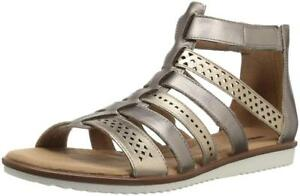 4a27b4aa6 Image is loading CLARKS-Women-039-s-Kele-Lotus-Gladiator-Sandal