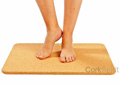 Luxury Large Cork Bath Mat Bathroom Shower Rectangular Non Slip