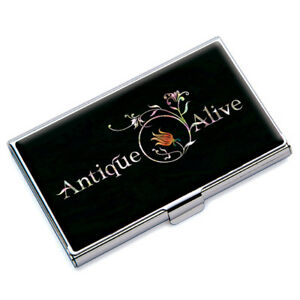 Porte Cartes de Visite Crédit Etui Boîte Nacre Métal DESIGN ... 968321272aa