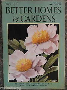 Better Homes Gardens Magazine June 1933 Jean Tennant