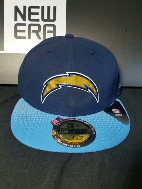bdafafe2476 San Diego Chargers New Era 59Fifty Fitted Official NFL Draft Hat Cap Size 7