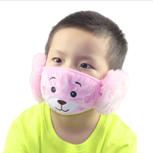 Kids Winter Warm Ear Face Mouth Mask Children Thicken Dust Proof Outdoor 8C