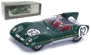 SPARK-s4398-Lotus-XI-62-9th-LE-MANS-1957-MCKAY-Fraser-Chamberlain-SCALA-1-43
