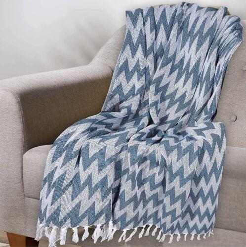 Indian Blanket Throw Lightweight Strip Throw Sofa Comforter Herringbone Throw