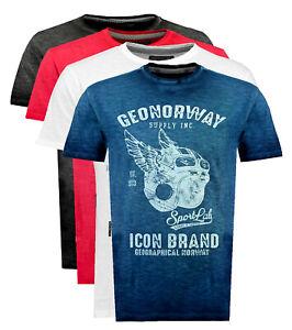 T-shirt-maglia-GEOGRAPHICAL-NORWAY-maniche-corte-Short-Sleeves-JARLEY-men-uomo