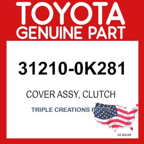 TOYOTA GENUINE 312100K281 COVER ASSY CLUTCH 31210-0K281
