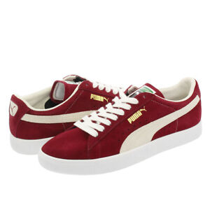 the latest 16bf8 de8a6 Details about Men's Puma Suede 90681 Pomegranate Red Suede Retro Trainers  UK Size 6.5 - 10.5