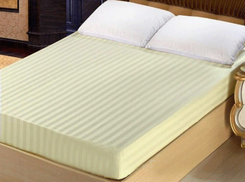 US Deep Pocket Fitted Sheet 1000TC Egyptian Cotton Twin XL Size Striped Colors