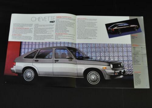 Chevrolet Chevette S 1987 Car Prospectus from USA
