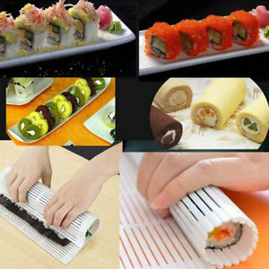 Sushi-Roll-Mould-Mat-Silicone-Omelet-Cake-Rice-Rolling-Maker-Reusable-DIY-Fun