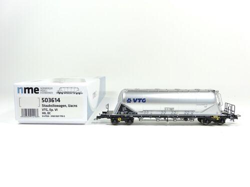 Staubsilowagen Uacns 82m³ VTG neu OVP NME H0 503614 DC silber