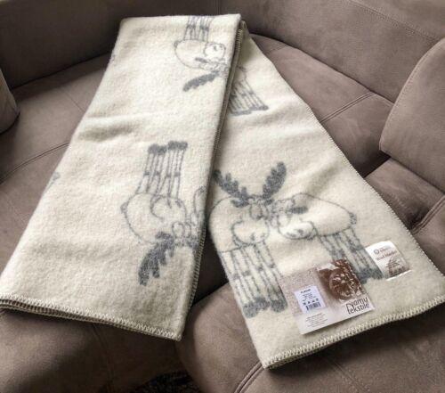 Blanket Throw Bed Sofa Fleece Cozy Plaid Soft Warm Wool 130x200cm Couple of Elk