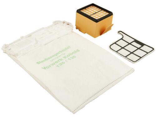 18 Sacchetto per aspirapolvere filtro adatto F VORWERK FOLLETTO 135 Microfilter h12 HEPA