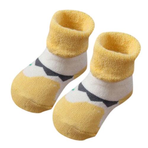 Toddler Kids Infant Baby Boys Girls Cartoon Animals Anti-Slip Knitted Warm Socks