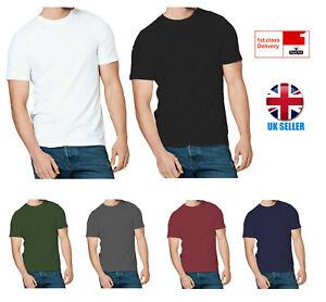 Men-039-s-T-Shirt-Pack-of-5-4-3-2-1-Value-Plain-Tee-100-Cotton-Black-White-Grey