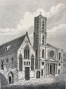 Paris-Saint-Jacques-Du-Haut-Pas-Seminaire-Saint-Magloire-Print-of-1856-France