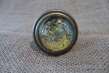 Antique Brass Metal Map Globe Atlas Drawer Pull Knob~Home Decor~Dresser Cabinet