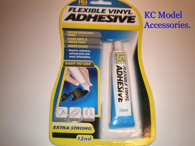 FLEXIBLE VINYL GLUE REPAIRS RUBBER PVC TENTS WETSUITS STRONG & WATERPROOF