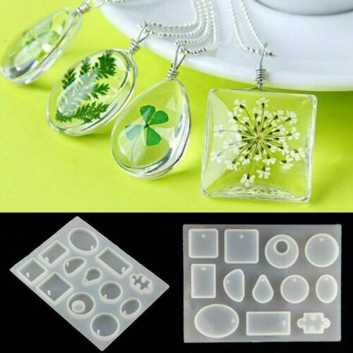 2x 12 Silicone Mould Pendant Jewelry Mold Craft DIY Resin Round Making Necklace