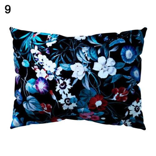 KQ/_ Flower Floral Rectangle Pillow Case Sofa Cushion Cover Home Cafe Decoration