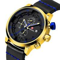 Luxury Army Sport Mens Quartz Analog Date Wrist Watch Black Fashion Rubber Watch