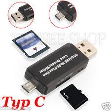 USB 2,0 3 in 1 Multi-Funktions SD Karte TF Triplett OTG Smartcard Reader Adapter
