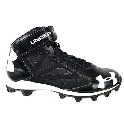 White Sz 6Y New Youth UA Under Armour Crusher RM Football Cleats Black