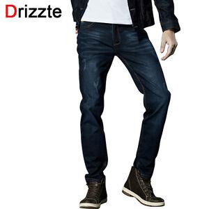 f034874e51ca Drizzte Brand Men Stretch Denim Jeans Black Blue Trendy Trousers ...