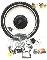 48v 1500w Electric Bike Conversion Kit 26 / 700c/ 29er Wheel, Lcd Display