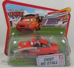WOC Disney Pixar Cars Word Of Cars Chief No Stall Diecast Short Card Race O Rama