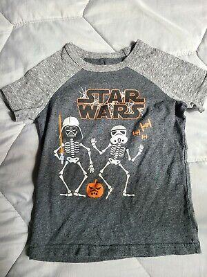 5T STAR WARS HALLOWEEN GLOW IN THE DARK SHIRT INFANT TODDLER BOYS SZ 12 MONTHS