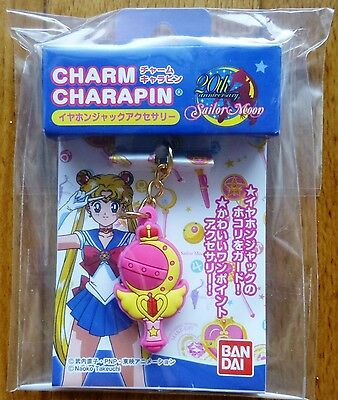 Sailor Moon Earphone Jack Charm Charapin Cutie Moon Rod RARE Kawaii 20th Limited