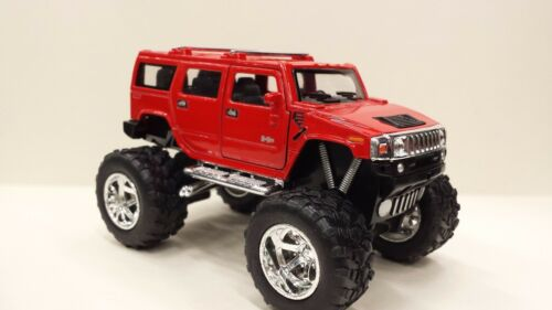 red kinsmart TOY model 1//40 scale diecast Car off Road 2008 Hummer H2 SUV