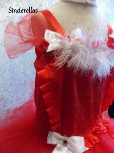 Girls Santa dress tutu dress costume handmade Christmas Fancy dress